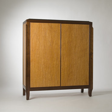 Cabinet with Karelian Burl panels and Mahogany frames