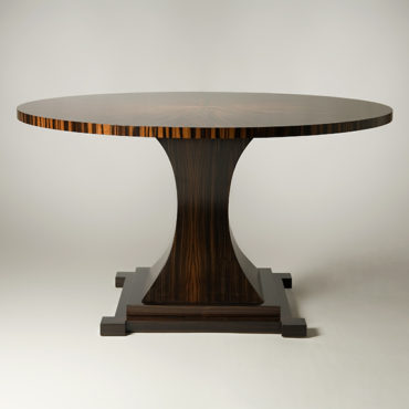 High contrast Macassar Ebony table